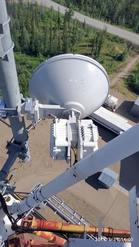 PPC-10G-E-HP/2+0 на телекоммуникационной вышке в Прилуках