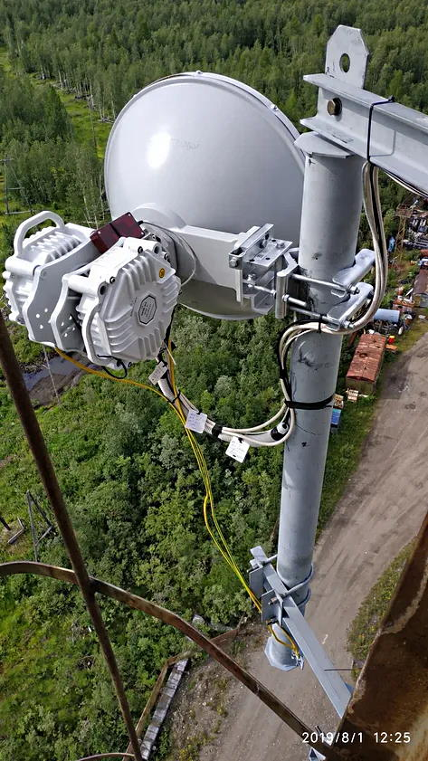 PPC-10G-E-HP/2+0 на телекоммуникационной вышке в Игарке