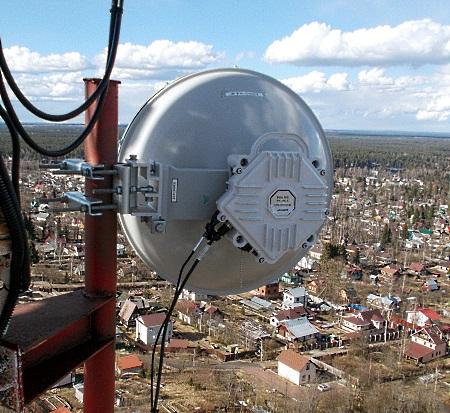 Радиомост 10 Gigabit Ethernet фирмы ДОК в сети МТС