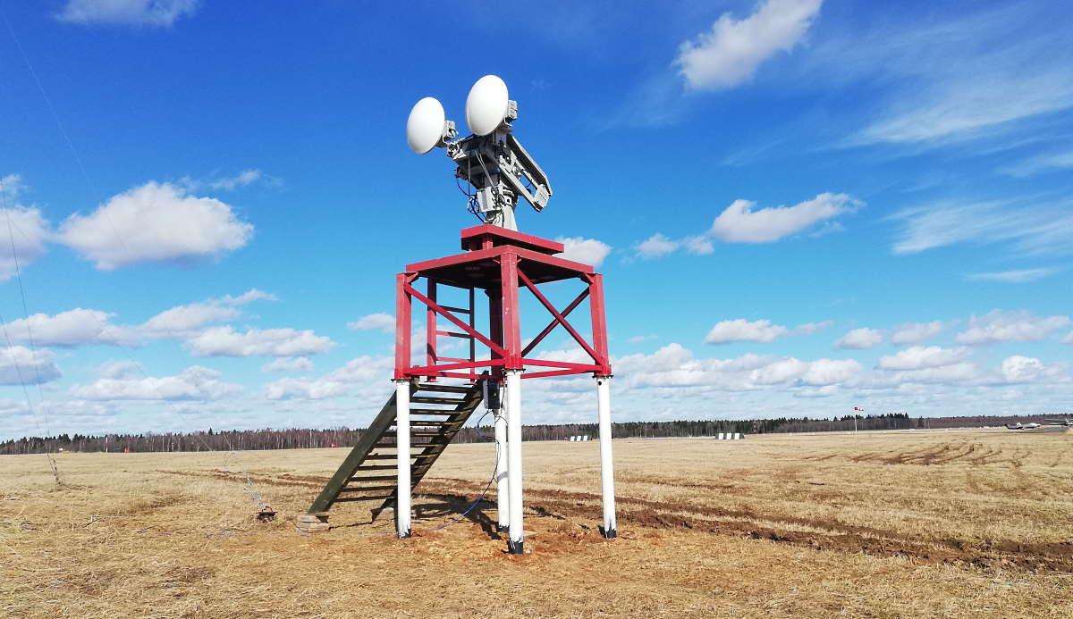 FOD радар СКВПП-76 на башне во время тестирования