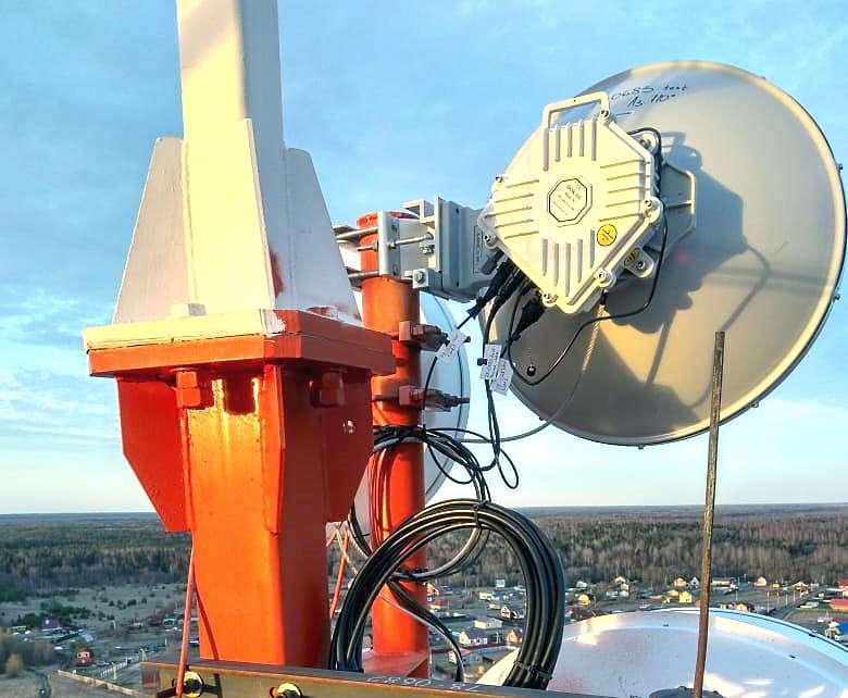 Радиорелейная станция 10Гбит/c 71–76/81–86ГГц в МТС, 19.5 км трасса