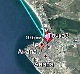 Радиомост PPC-10G 70/80 ГГц на дистанциях 15.9 км и 10.5 км в Анапе