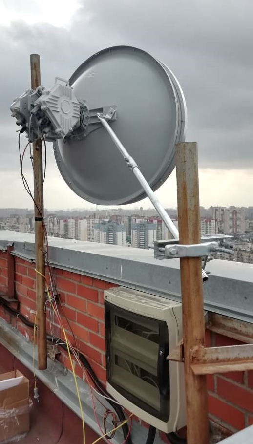 Сдвоенный радиомост PPC-10G-Q-90/2+0, работающих в диапазоне 40.5-43.5 ГГц (Q-band)